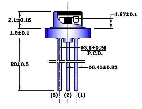 1300nm Edge-Emitting LED / TO56 Package